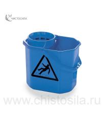 Ведро 12 л синее с решектой-отжимом EUROMOP 3001067.15