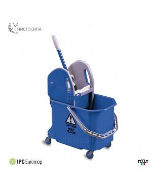 Ведро на колесах для уборки с отжимом (18л) EUROMOP