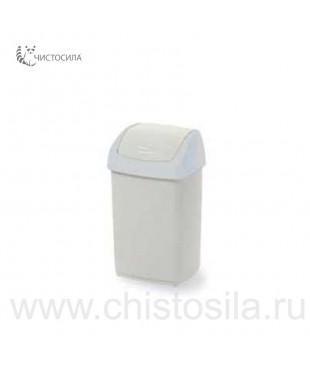 Пластмассовый контейнер для мусора 15л EUROMOP (с синей крышкой)